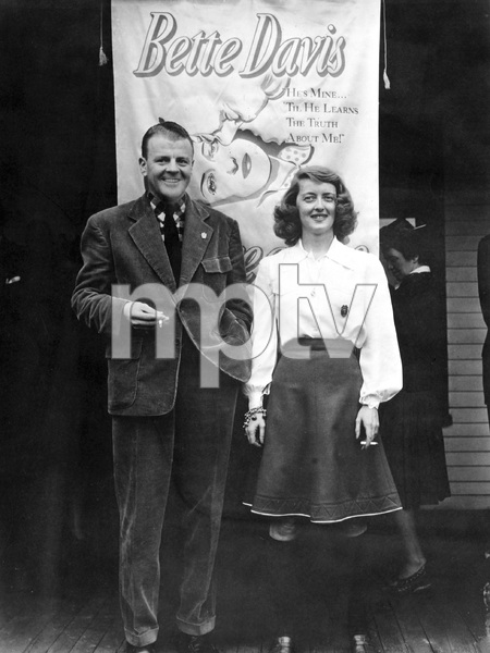 """Bette Davis with her husband Arthur Farnsworth at a birthday gala and world premiere of """"THE GREAT LIE"""". April 1941, I.V. - Image 0701_2243"""