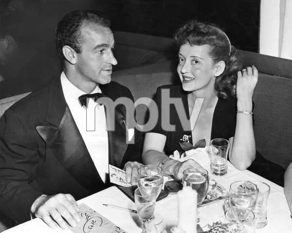 Bette Davis with husband Grant Sherry, at the Mocambo, mid-1940