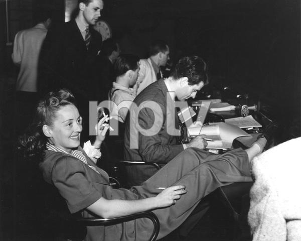 """Bette Davis on break during filming of """"THE BRIDE CAME C.O.D."""" I.V. - Image 0701_2254"""