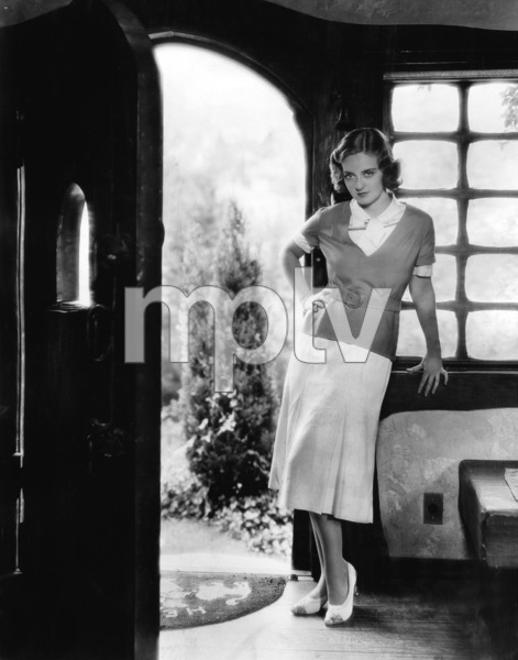 Bette Davis at her Warner Brothers bungalow on Hollywood Way in Burbank1932** I.V. - Image 0701_2267