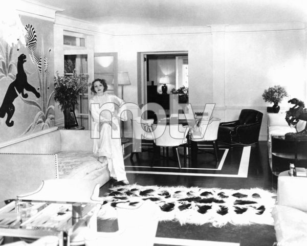 Marlene Dietrich at home, c. 1932.**R.C. - Image 0709_1078