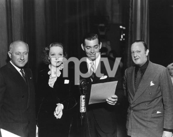 Cecil B. DeMille, Marlene Dietrich, Clark Gable,Jesse Lasky, c. 1932.**R.C. - Image 0709_1093
