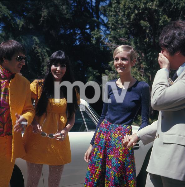 Twiggy, Sonny Bono, Cher Bonocirca 1967**I.V. - Image 0710_0062
