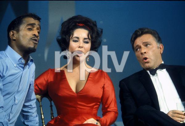 Sammy Davis Jr., Elizabeth Taylor and Richard Burton on an NBC television show1965 © 1978 Bob Willoughby  - Image 0712_5152