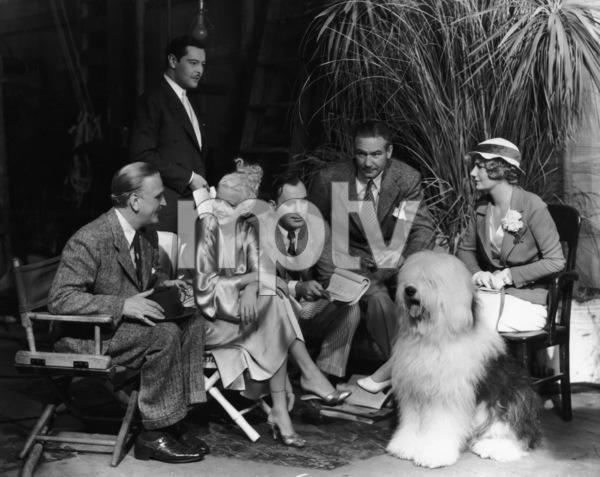 Jean Harlow with Frank Morgan, Pat O
