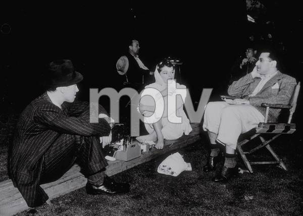 "Katharine Hepburn, James Stewart,Dir. George Cukor on location for ""The Philadelphia Story""1940 MGM - Image 0722_1004"