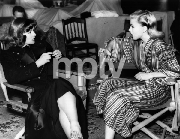 "Katharine Hepburn knitting while chatting during takes on the set of the film ""Stage Door""1937 - Image 0722_2266"