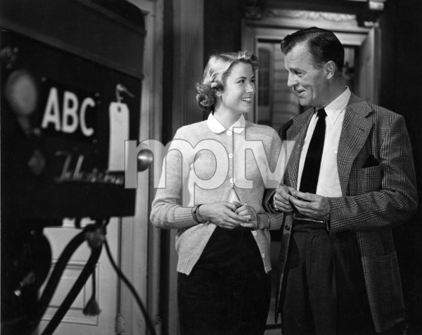 Grace Kelly and Neil Hamilton for an ABC- TV Hollywood screen test, 5/18/53. © 1978 George E. Joseph - Image 0724_0374