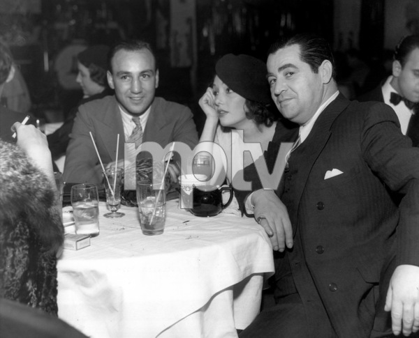 Fighter Jackie Fields and songwriter Lew Brown are hosts to Lupe Velez at the Club New Yorker, Hollywood
