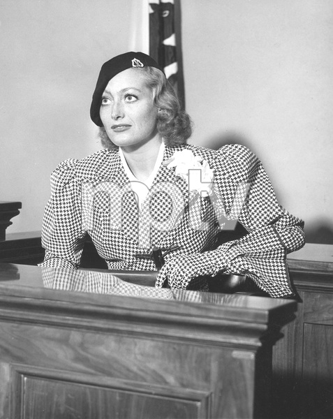 Joan Crawford on witness stand during divorce trial from Douglas Fairbanks, Jr, 1933, I.V. - Image 0728_8324