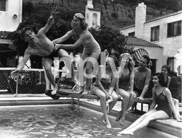 Mickey Rooney, Judy Garland, Jackie Cooperc. 1937**R.C. - Image 0733_2126