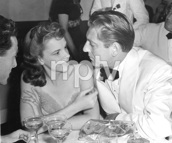 Judy Garland and David Rose at the Copacabana Opening, 1940