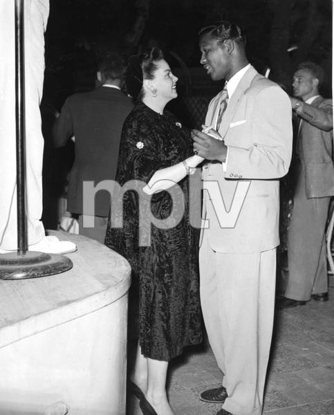 Judy Garland and Sugar Ray Robinson on dancefloor in France, 1951, I.V. - Image 0733_2231