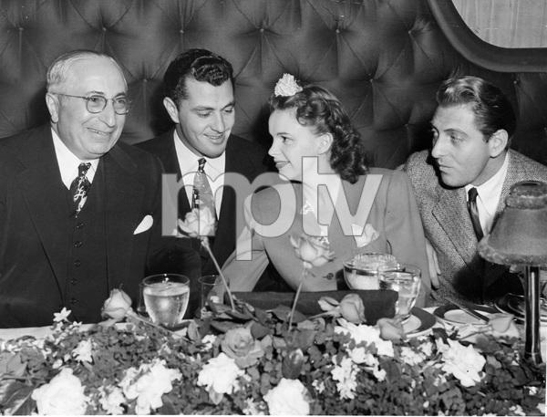 Judy Garland, Louis B. Mayer, David Rose, Tony Martin at Ciro
