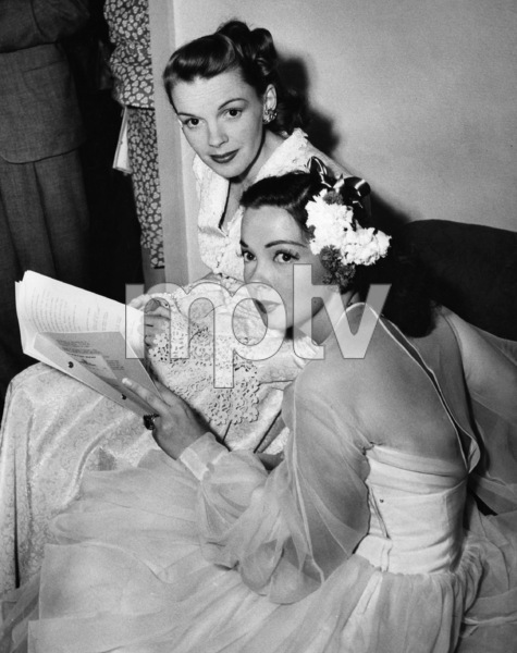 Judy Garland and Kathryn Grayson backstage at the Hollywood Bowl for the Jerome Kern Memorial Night 1946** I.V. - Image 0733_2256