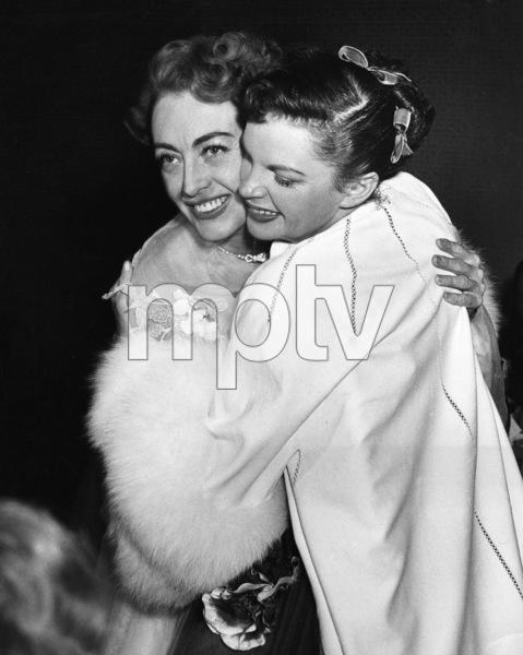 Joan Crawford and Judy Garland at Judy