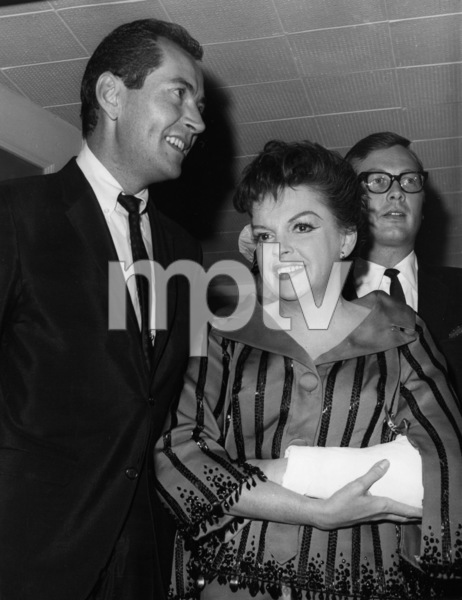 Judy Garland and Mark Herron (Judy is holding her broken arm which happened when she tripped over her dog)1965** I.V. - Image 0733_2288
