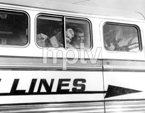 """Marilyn Monroe and Don Murray""""Bust Stop,"""" 1956 / 20th Century Fox - Image 0758_0224"""