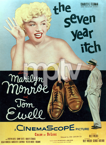 """""""Seven Year Itch, The"""" Movie PosterMarilyn Monroe, Tom Ewell1955 / 20th Century Fox - Image 0758_0386"""