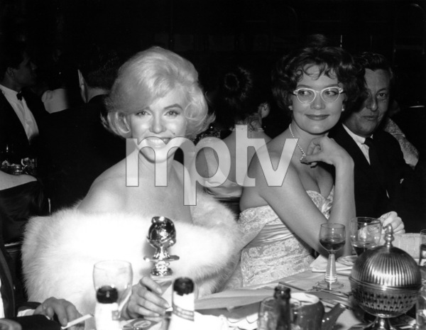 Marilyn Monroe at theGolden Globe Awards in 1960 awardedfor Best Actress in a Comedy or Musical. © 1978 David Sutton - Image 0758_0507