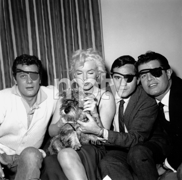 Tony Curtis, Marilyn and Milton Greenecelebrating Sammy Davis Jr.