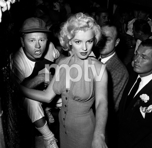 Marilyn Monroe & Mickey Rooney at a Hollywood Entertainers Baseball Game atGilmore Field in Hollywood, March 17, 1952. © 1978 Gerald Smith - Image 0758_0772