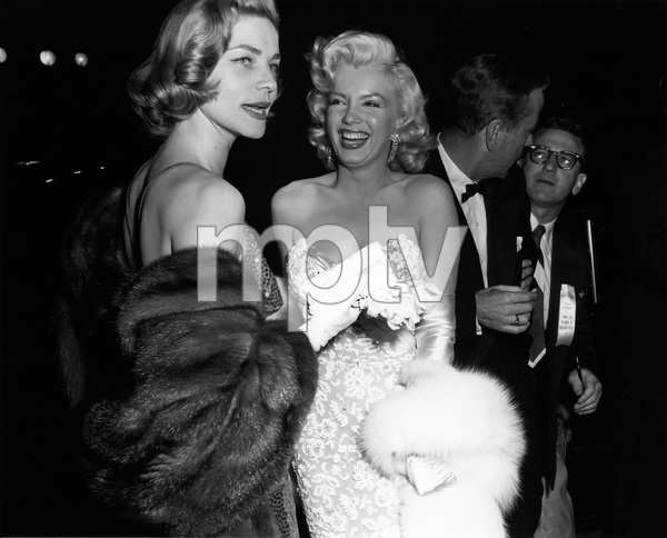 """Lauren Bacall and Marilyn Monroe at the premiere of """"How to Marry a Millionaire""""circa 1953** I.V. - Image 0758_1067"""