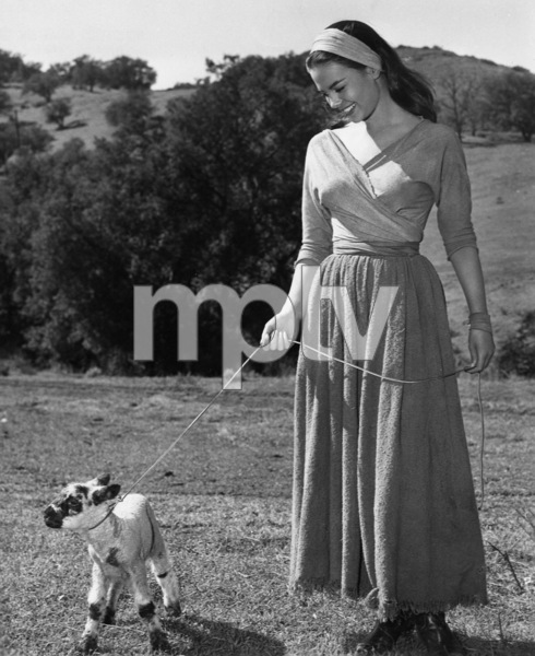 "Natalie Wood on location for""The Burning Hills,"" 1956.Photo by Jack Woods - Image 0764_0145"
