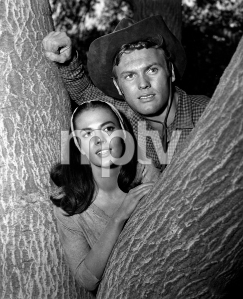 "Natalie Wood with Tab Hunterfor ""The Burning Hills,"" c. 1956.Photo by Jack Woods - Image 0764_0148"