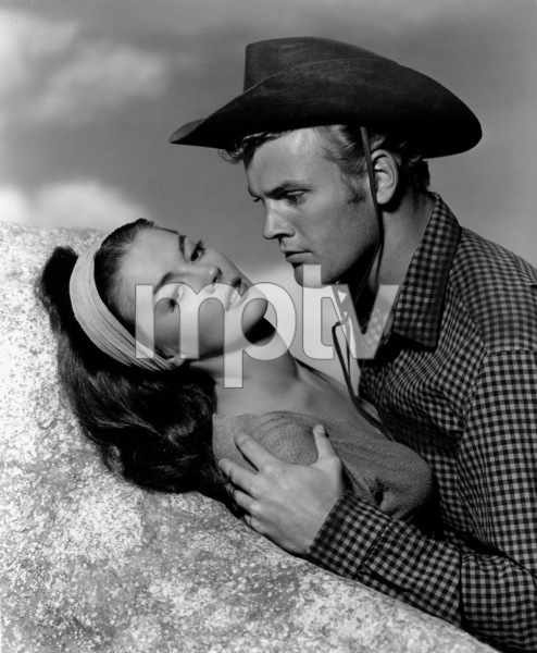 "Natalie Wood with Tab Hunterfor ""The Burning Hills,"" c. 1956.Photo by Bert Six - Image 0764_0149"