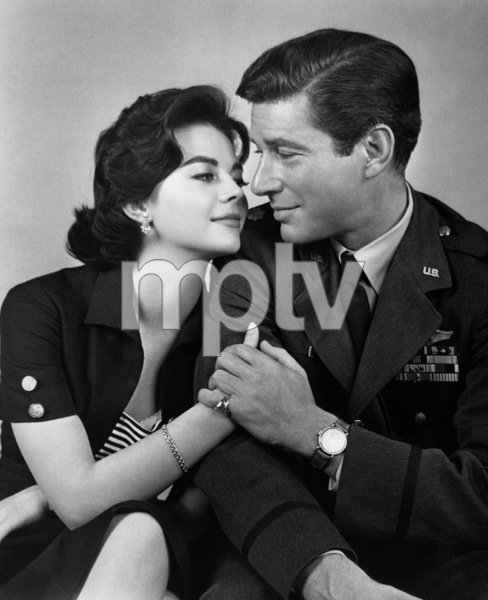 """Natalie Wood and Efrem Zimbalist Jr.in """"Bombers B-52,"""" 1957.Photo by Bert Six - Image 0764_0163"""
