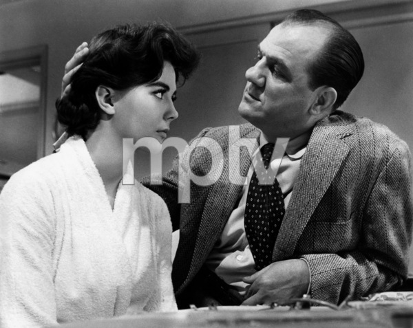 "Natalie Wood with Karl Malden in""Bombers B-52,"" 1957.Photo by Mac Julian - Image 0764_0168"