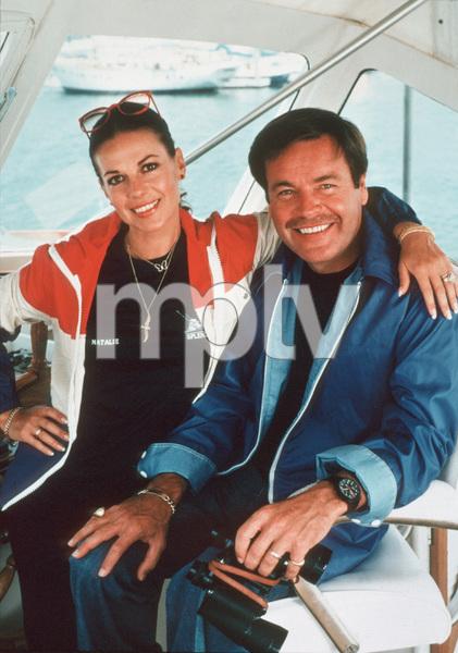 "Natalie Wood and Robert Wagner aboard ""Splendour"" in Marina Del Rey, CA July 7, 1978 © 1978 Jason Hailey - Image 0764_0201"