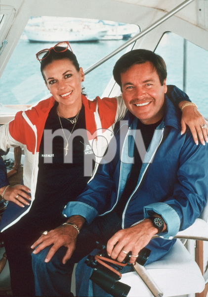 "Natalie Wood and Robert Wagner aboard ""Splendour"" in Marina Del Rey, CA July 7, 1978 © 1978 Jason Hailey - Image 0764_0201"
