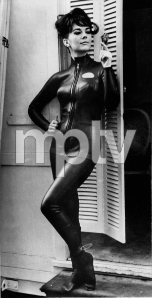 """Natalie Wood on the step of her dressing roomin a wet-suit for a scene in the movie""""The Great Race,"""" 1965. - Image 0764_0352"""