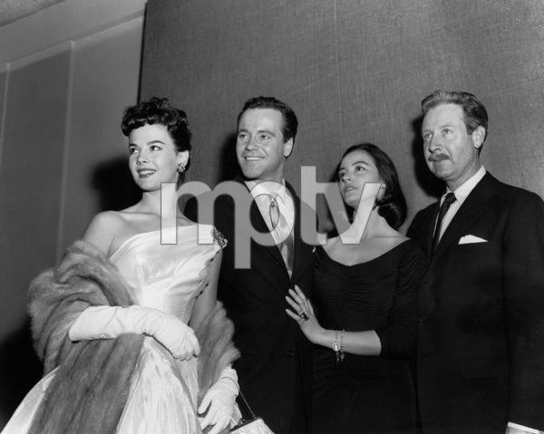 Natalie Wood with Jack Lemmon, Marissa Pavan,and Arthur O