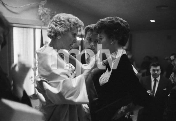 Barbara Stanwyck, Robert Wagner and Natalie Wood at a Harper