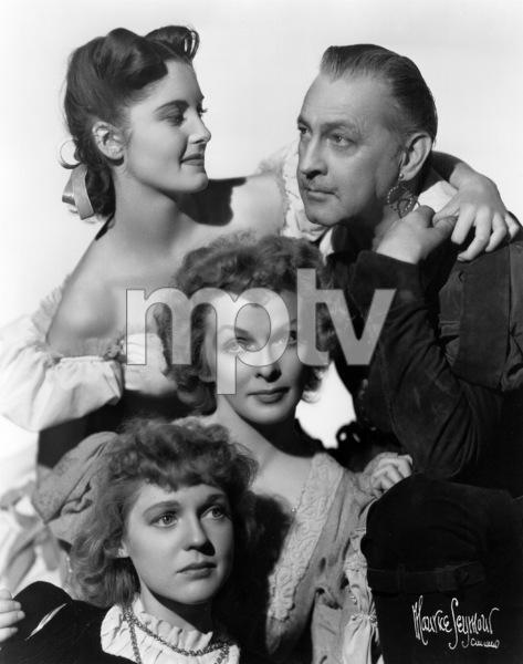 John Barrymore with Patricia Watersand Loris Hall, 6/6/39. © 1978 Maurice Seymour - Image 0801_0814