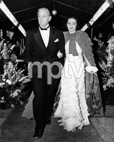 """John Barrymore and his wife Elaine Barrie arriving at the Carthay Circle Theatre for the premiere of """"Marie Antoinette""""07-10-1938 - Image 0801_0827"""