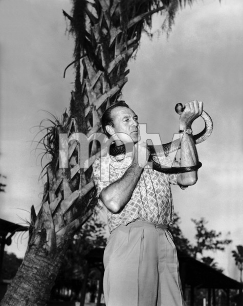 "Gary Cooper on location at Silver Springs, Florida, to film the Warner Brothers release ""Distant Drums""1951Photo by Jack Albin - Image 0809_0006"