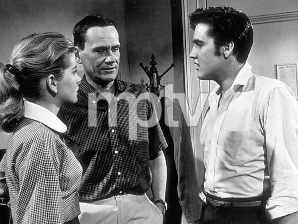 "Elvis Presley, Dolores Hart, and James Gleason in ""Loving You""1957 Paramount - Image 0818_0009"