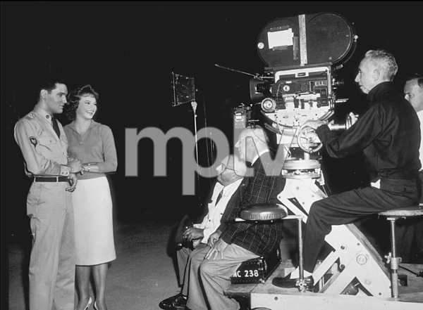 "Elvis Presley and Juliet Prowsefilming ""G.I. Blues""1960 Paramount - Image 0818_0088"