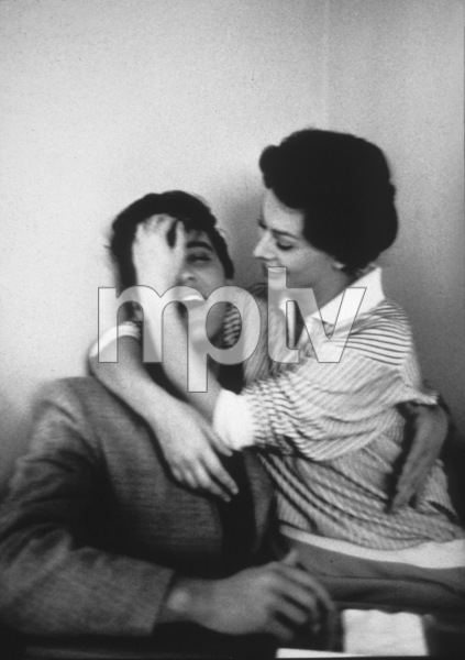 Elvis Presley with Sophia Loren at Paramount Studios, 1958. © 1978 Bob Willoughby - Image 0818_0412