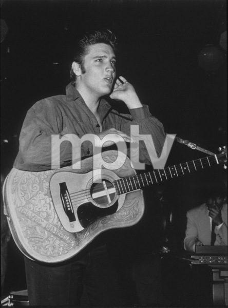 "Elvis Presley backstage of ""The Ed Sullivan Show,""in Los Angeles, 9/9/56. CBS.Photo by Gabi Rona - Image 0818_0440"