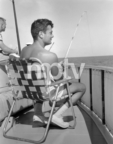 Tony Curtis fishing 1959** B.D.M. - Image 0845_0621