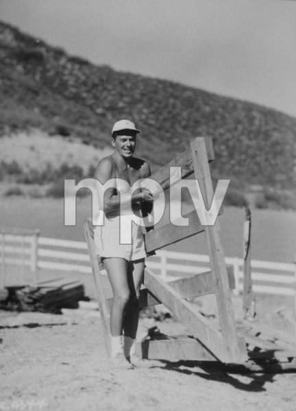 Ronald Reagan at his ranch in Northridge CaliforniaC. 1948MPTV - Image 0871_0102