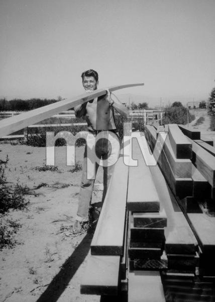 Ronald Reagan at his ranch in Northridge CaliforniaC. 1948MPTV - Image 0871_0128