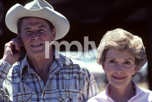 Ronald Reagan with wife, Nancy Reagan, at Rancho del Cielo in Santa Ynez, CA1980© 1980 Gunther - Image 0871_1587