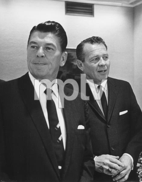 Ronald Reagan, Governor with Lt. Gov. Finch, Sacramento, Ca 1967. Photo: Ernest Reshovsky © 1978 Marc Reshovsky - Image 0871_1791
