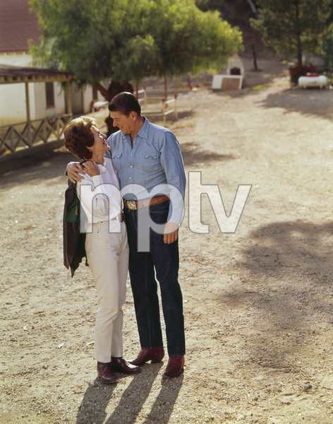 Nancy and Ronald Reagan at Rancho del Cielocirca 1970 © 1978 John Engstead - Image 0871_1820